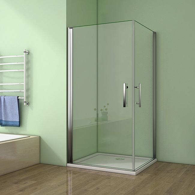 Sprchový kout MELODY A4 100cm se dvěma jednokřídlými dveřmi včetně sprchové vaničky (SE-MELODYA4100/THOR-100SQ)