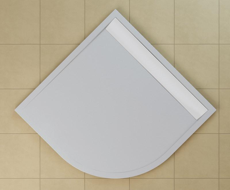 SanSwiss vanička ILA štvrťkruh biela 80x80x3 cm kryt biely WIR550800404 WIR550800404