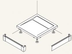 SanSwiss panel přední - L pro čtvercovou vaničku bílá 900 x 900 mm PWIL09009004 (PWIL09009004)