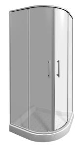 JIKA - Lyra Plus sprchový kout 80 čtvrtkruh R550, sklo STRIPY, v.190 2.5338.1.000.665.1 (H2533810006651)