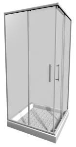 JIKA - Lyra Plus sprchový kout 90x90 čtverec, sklo stripy, v.190 (H2513820006651)