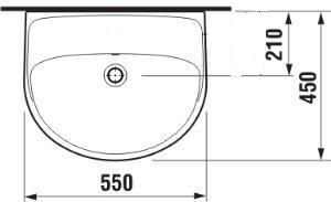 JIKA JIKA - Lyra Plus umyvadlo 55x45 bez otvoru 8.1438.2.000.109.1 (H8143820001091)