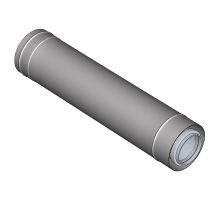 BRILON - Komín Serio fasádní trubka koaxiální DN125/80 x 1000 mm nerez 52101514 (52101514)