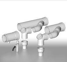 BRILON - Komín Serio komínová sada sdružených odvodů spalin pro kaskády kotlů DN250 52100625 (52100625)