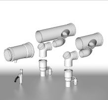 BRILON - Komín Serio komínová sada sdružených odvodů spalin se zpět.klapkami pro kaskády kotlů DN200 52100715 (52100715)