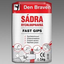 DEN BRAVEN - Sádra  5kg rychloopravná Fast Gips 00416GY (00416GY)