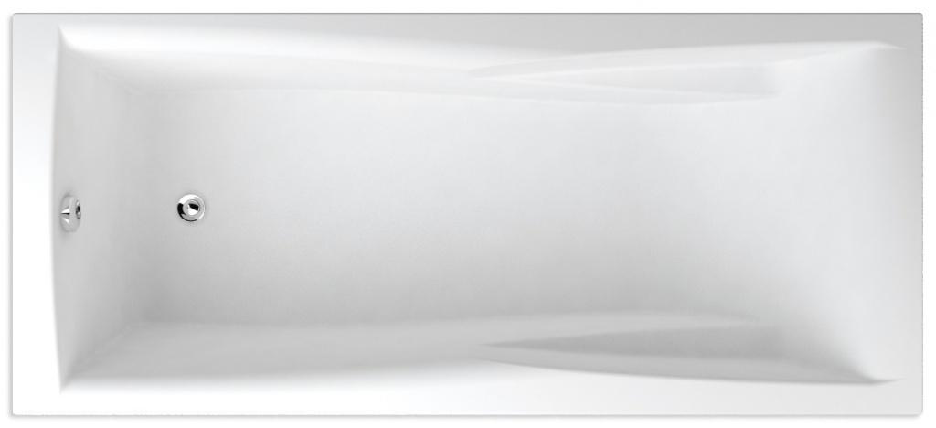 TEIKO vana obdélníková COLUMBA 160x75 Bílá 160 x 75 x 45 (V112160N04T04001)