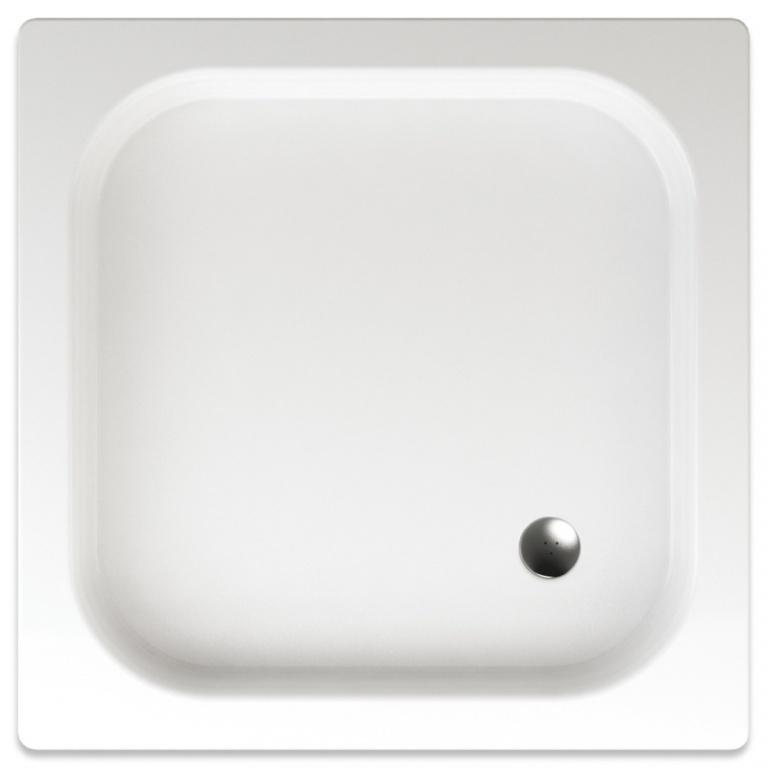 TEIKO vanička čtvercová IKARIA Bíláprotiskluz 80 x 80 x 8 (V134080N32T03001)