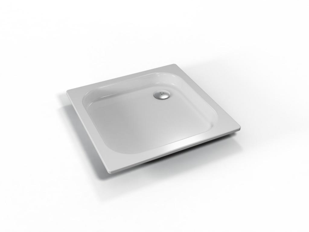 TEIKO vanička čtvercová IKARIA Bíláhladká 80 x 80 x 8 (V134080N32T06001)