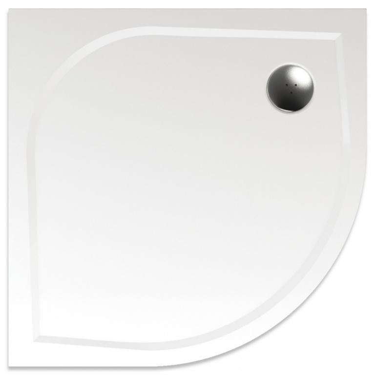 Teiko vanička VIRGO 80 bílá, čtvrtkruh R550, litý mramor V139080N01T01001 (V139080N01T01001)