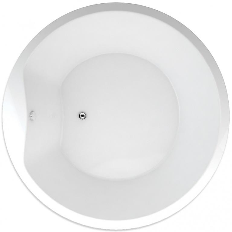 TEIKO vana kruhová SPACE 160 Bílá 160 x 51 (V115160N04T04001)