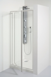 TEIKO sprchové dveře otvíravé SDK 80 SKLO WATER OFF BÍLÝ 80x185 (V331080N55T41001)