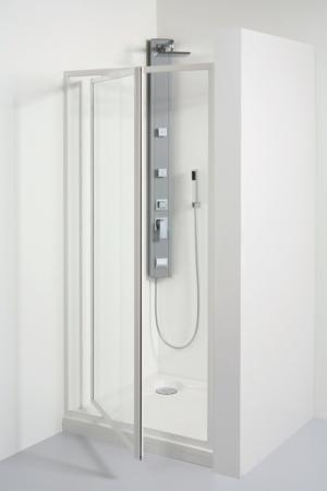 TEIKO sprchové dveře otvíravé SDK 90 CHINCHILLA WATER OFF BÍLÝ 90x185 (V331090N56T41001)