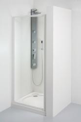 TEIKO sprchové dveře otvíravé SDKR 1/80 SKLO WATER OFF BÍLÝ 80x185 (V331080N55T51001)