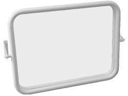 JIKA UNIVERSUM zrcadlo, nastavitelné, nerez  H3897190030001 (H3897190030001)