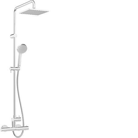 HANSAUNITA Sprchová baterie termostatická dešťovou sprchou 20x20cm 581491130067 (HA581491130067)
