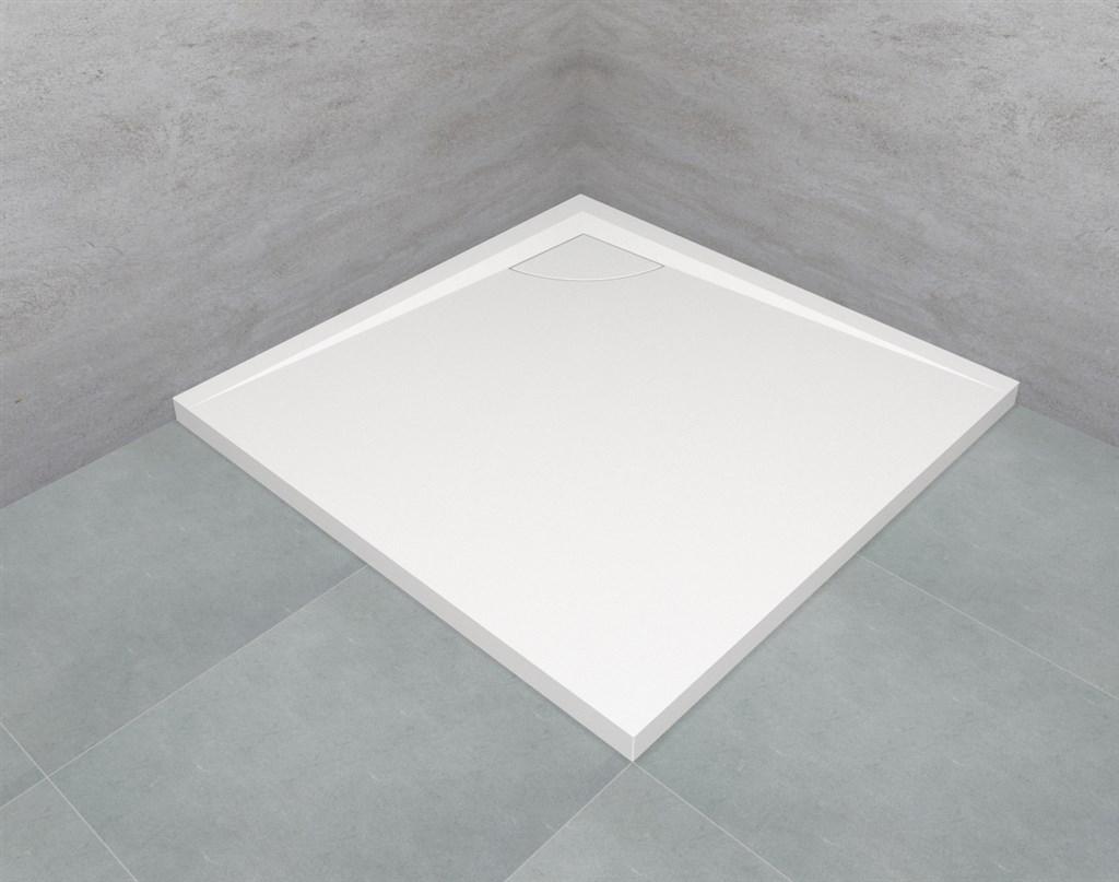Teiko vanička DORNE-K 90 bílá/bílá krytka čtverec, litý mramor 4cm Z139090N96T02001 (Z139090N96T02001)