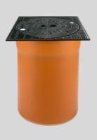 GLYNWED - KGRV šachtový teleskop poklop bez odvětr.300 12t  BEZ GUM.MANŽETY, čtvercový  O 62100 (O 62100)