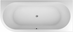 TEIKO vana volně stojící COMA PRAVÁ Bílá 180 x 80 x 45 (V112180R32T04001)