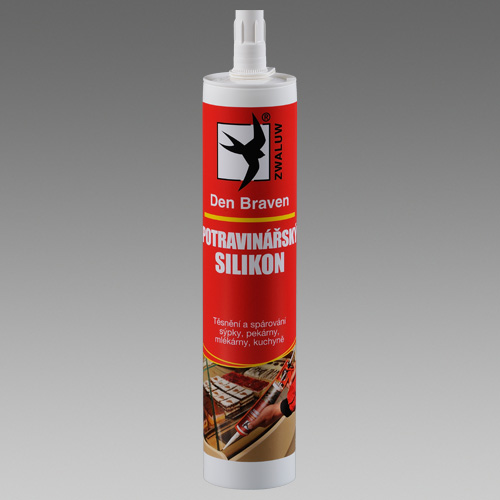 Tmel Potravinářský silikon transparentní, DenBraven, 310ml kartuše 30816RL (30816RL)