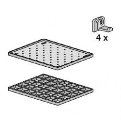 GLYNWED - SANIT odkládací souprava pro výlevku Multiset - 2x rošt, háčky s příslušenstvím (60006000099)