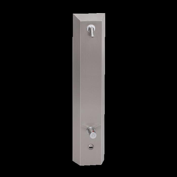Sanela SLSN 02ET Nerezový sprchový panel s elektronikou ALS, a termostatickým ventilem, 24V DC (SL 92022)