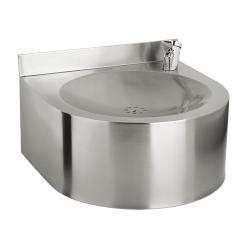 Sanela SLUN 62 Nerezová pitná fontánka závěsná s tlačnou armaturou, povrch matný (SL 93620)