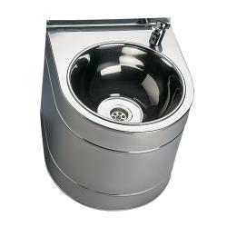 Sanela SLUN 14 Nerezová pitná fontánka závěsná s tlačnou armaturou, povrch lesklý (SL 93140)