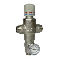 """Sanela SLT 08 Termostatický směšovací ventil 1"""" (53l/min., při tlaku 0,1 MPa) (SL 09080)"""