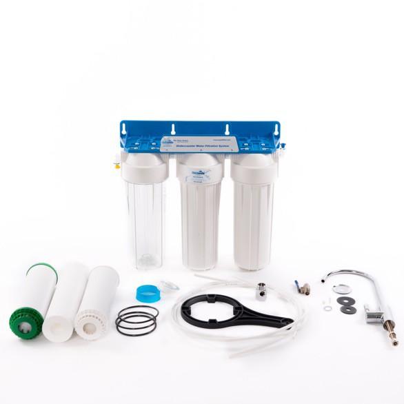 Ostatní - Filtr AQ SET 3-stupňový filtr+ ventil stoj.SV + příslušenství (včetně filtr.vložek) AQ-FP3-2 (AQ-FP3-2)