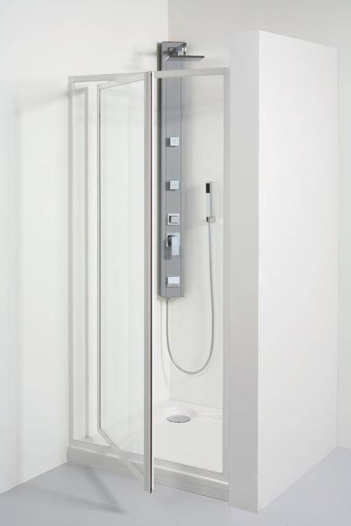 TEIKO sprchové dveře otvíravé SDK 90 SKLO BÍLÝ 90x185 (V331090N52T41001)