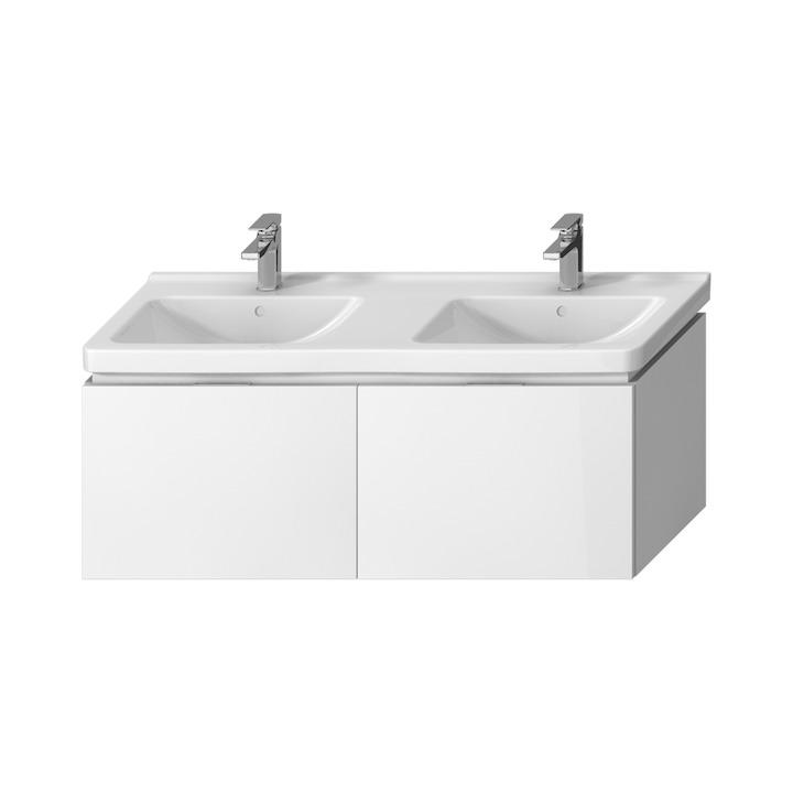 JIKA Cubito-N BÍLÁ skříňka pod umyvadlo130x48, 2x zásuvka H40J4274015001 (H40J4274015001)