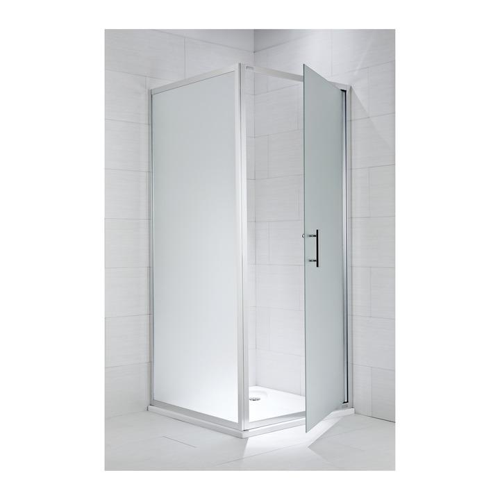 JIKA CUBITO pure pevná stěna 100/195, sklo Arctic, stříbrný lesklý profil 2.9724.3.002.666.1 H2972430026661 (H2972430026661)