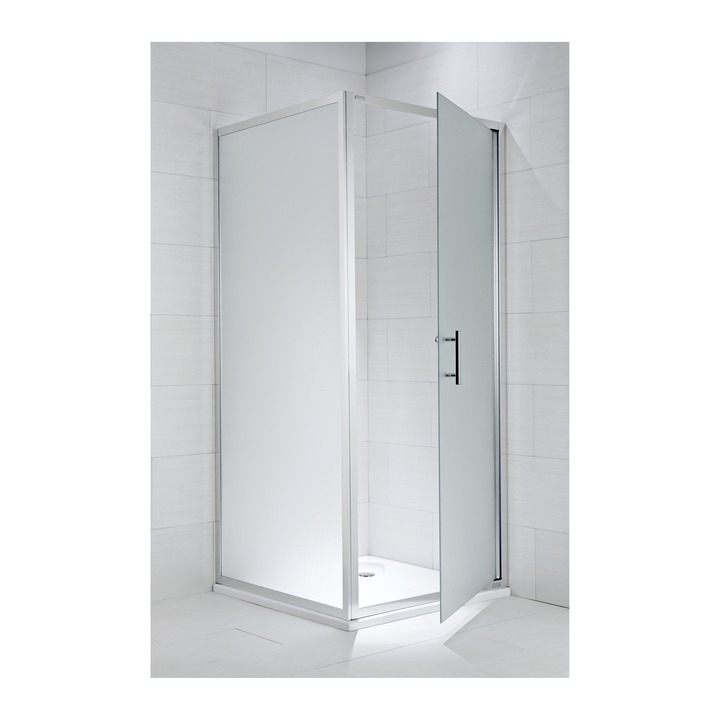 JIKA CUBITO pure pevná stěna 100/195, sklo Transparent, stříbrný lesklý profil 2.9724.3.002.668.1 H2972430026681 (H2972430026681)