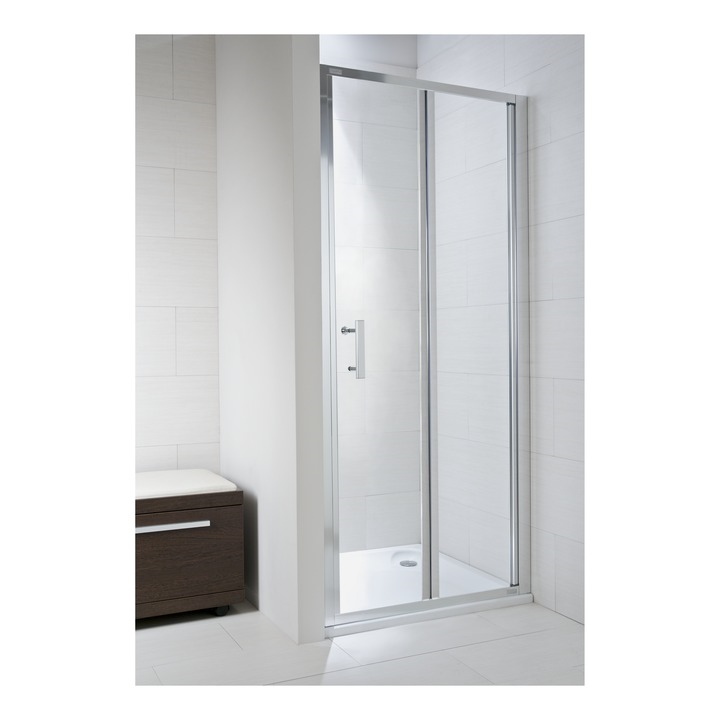 JIKA CUBITO pure spr.dveře 80/195, sklo Transparent, skládací, stříbrný lesklý profil 2.5524.1.002.668.1 H2552410026681 (H2552410026681)