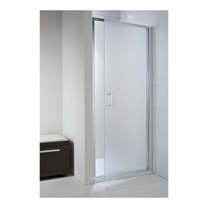 JIKA CUBITO pure spr.dveře 90/195, sklo Arctic, jednokřídlé, stříbrný lesklý profil 2.5424.2.002.666.1 H2542420026661 (H2542420026661)