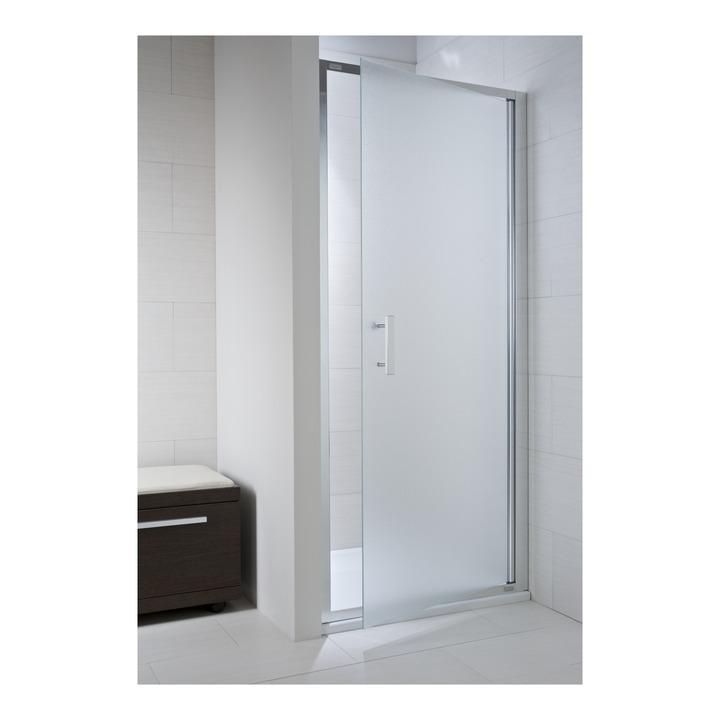 JIKA CUBITO pure spr.dveře 100/195, sklo Arctic, jednokřídlé, stříbrný lesklý profil 2.5424.3.002.666.1 H2542430026661 (H2542430026661)