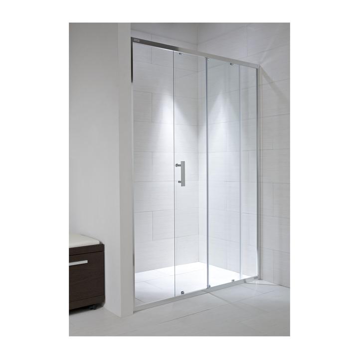 JIKA CUBITO pure spr.dveře 100/195, sklo Transparent, posuvné, stříbrný lesklý profil 2.4224.3.002.668.1 H2422430026681 (H2422430026681)