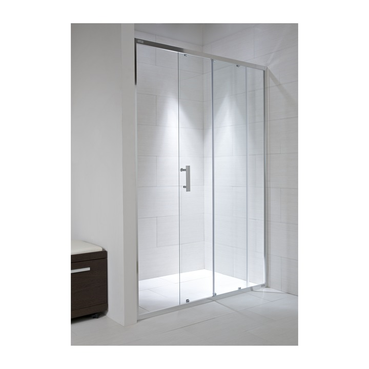 JIKA CUBITO pure spr.dveře 120/195, sklo Transparent, posuvné, stříbrný lesklý profil 2.4224.4.002.668.1 H2422440026681 (H2422440026681)
