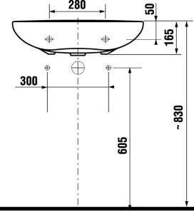 JIKA JIKA - Invalidní MIO umyvadlo 64x55, bez přepadu, bez otvoru 8.1371.4.000.109.1 (H8137140001091)