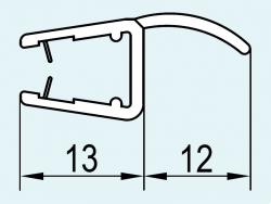 SanSwiss PUR Svislé těsnění na 6mm skla (pro PURB a PUB2) 191cm     93100.KD (93100.KD)