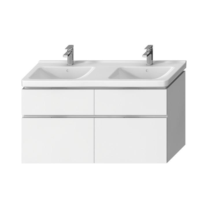 JIKA Cubito-N BÍLÁ skříňka pod umyvadlo130x48, 4x zásuvka H40J4274025001 (H40J4274025001)
