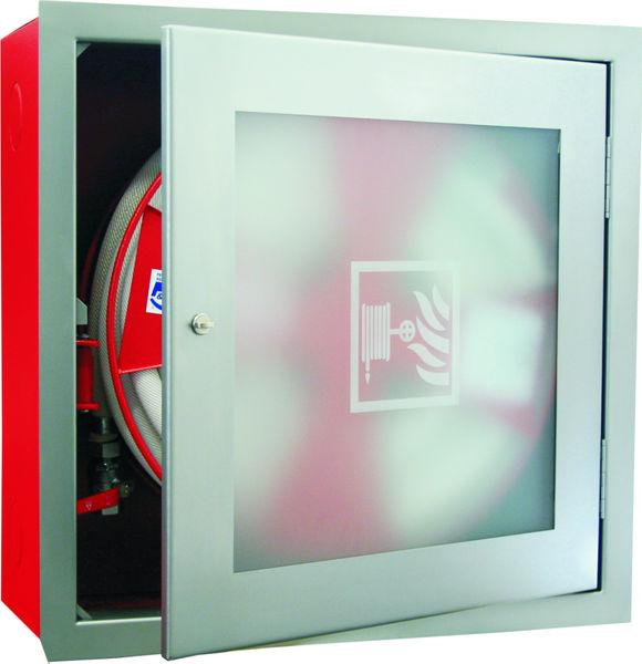 Ostatní - Hydrant komplet D-19 30m ekv.6 k zapuštění do zdi-s rámem (nerez) (SVV 116/B)