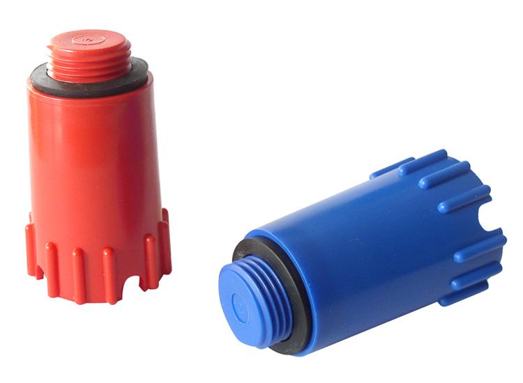 Plast Brno - Zátka 1/2 montážní dlouhá červená s těsněním ZSY0002 (ZSY0002)