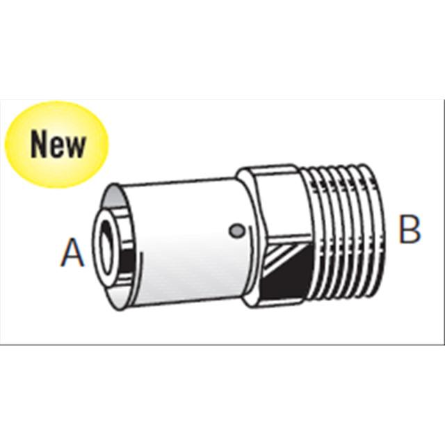 Ostatní - VALSIR BRASS přechod vnější závit 20x1/2 VS0170221 (VS0170221)