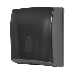 Sanela SLDN 03N Zásobník na skládané papírové ručníky, černý plast ABS (SL 72031)