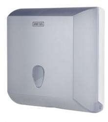 Ostatní - AND GO Zásobník na skládané ručníky A2s průhledná/bílá 40004010 (40004010)