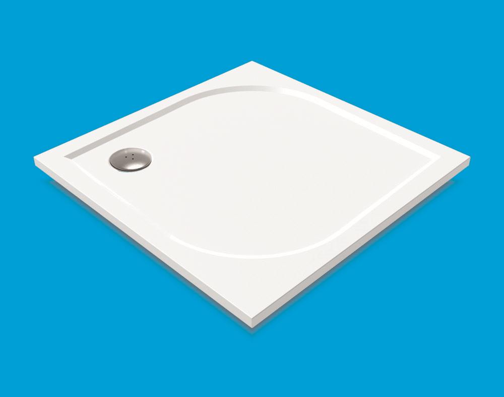 NOVASERVIS - LaVilla TRACY sprchová vanička čtverec 900x900 bílá BEZ NOH-5 WAQ090004 (WAQ090004)
