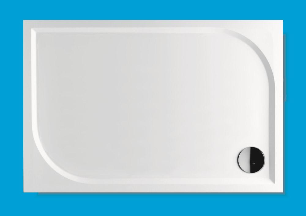 NOVASERVIS - LaVilla TRACY sprchová vanička obdélník 80x100 bílá BEZ NOH-6 Marblemate WAA8010004 (WAA8010004)