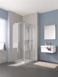 KERMI - Cada XS stříbrná lesk 2D RV levá 1/2 (posuvné dveře) 900/2000 čiré sklo s CadaClean CKE2L09020VPK (CKE2L09020VPK)